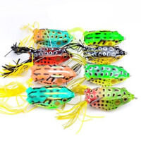 8pk 6cm Topwater Frog Crankbait Tackle Bass Soft Swimbait Fishing Lures Baits