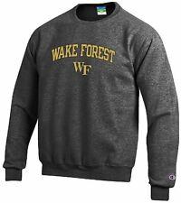 Wake Forest Demon Deacons Grey Champion Campus Powerblend Crew Sweatshirt