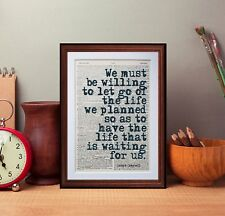 Joseph Campbell Quote dictionary page art print book reading literary quotes