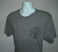 NEW MENS JAGERMEISTER T SHIRT LARGE STAG LOGO GRAY POLY COTTON RAYON BLEND
