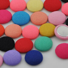10/50/100pc 13mm round chiff fabric covered button with flat back jewelry CT12
