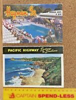 1960s HAYMAN ISLAND BARRIER REEF + PACIFIC HIGHWAY BRISBANE-SYDNEY VIEWS FOLDERS