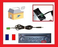 Cable aux mp3 poste RENAULT UDAPTE LIST 6 pin, IPHONE clio 2 3 auxiliaire