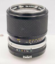 Nikon Zoom-Nikkor Auto 43-86mm F3.5 Non-AI Zoom Lens For Mirrorless Cameras