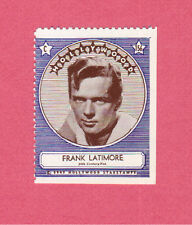 Frank Latimore Movie Film Star 1947 Hollywood Sticker Stamp
