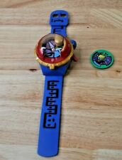 YoKai Watch Blue Watch With 1 Green Medal *Tested Works* Hasbro