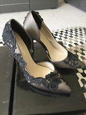 Karen Millen Black Lace Heel Shoes Size 36 *worn Once*