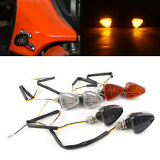 Yellow LED Turn Signal Lights Indicator For Honda Suzuki Kawasaki KTM Yamaha
