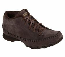 Women's SKECHERS Bikers Totem Pole 49013 Lace-up Trainers in Brown UK 3 / EU 36