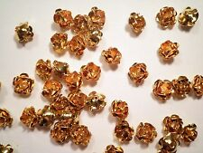 12 Goldplated 10mm Rose Findings