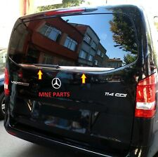 Mercedes Vito W447 2014+ cromo de acero inoxidable para ventana trasera