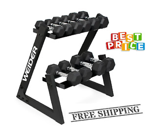 Weider Dumbbell Set and Rack FREE SHIPPING 100%