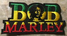 "Bob Marley Patch-Sew On/Iron On-BRAND NEW CONDITION-Approx 4 1/4"" x 2 1/4""-NICE!"