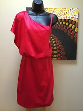 JESSICA SIMPSON Tango Red Draped Wing Sleeve Holiday Party Dress 4 womens