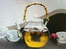 5-pc glass Teapot Set with cups 27 oz.