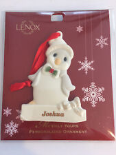 Lenox Merrily Yours Personlized Ornament Joshua