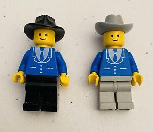 Lego Classic Cowboy Minifigures Town City trn089 trn084 Gray Black Cowboy Hats