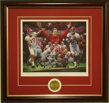 """Alabama football 2017 NC """"Second and Twenty Six"""" framed print & coin by D Moore"""