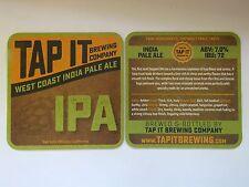 Beer Brewery Coaster <> TAP IT Brewing Company IPA ~ San Luis Obispo, CALIFORNIA