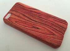 Apple Iphone 5C cover case protective hard back wood grain wooden oak red