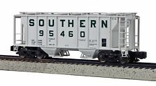 MTH S Scale PS-2 Covered 2-Bay Hopper - Southern #95462