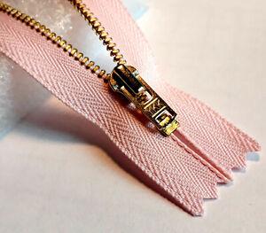 Reißverschluss unteilbar ROSA Farbtöne Größe 3 Metallkette diverse Farbvarianten