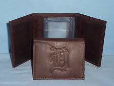 DETROIT TIGERS    Leather TriFold Wallet    NEW    dark brown 3v wd