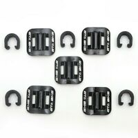 16X Bike Bicycle Brake Cable Guide Tidy Seat/&Tubing Fixing Clamp Clip Buckle