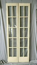 Pair Antique 15x78 French Door Side Lights White 10 Lite Shabby Vtg Chic 232-20B