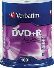 200 Verbatim DVD Recordable Media DVD+R 16x 4.70GB