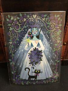 Disney Parks Post Card WonderGround HAUNTED BEAUTY NIP Artist Griselda Sastrawin