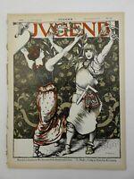 Young Women Dancing Jugend Magazine 1898 Issue 40 Jugenstil Art Nouveau graphics