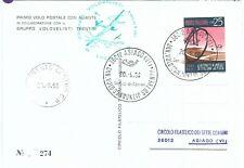 72103 - STORIA POSTALE - AVIAZIONE: ann. volo DANNUNZIO su TRENTO - Glider Mail