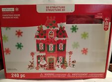 Creatology 3D Structure 240 pc Christmas House New Foam Kids Craft new unopened