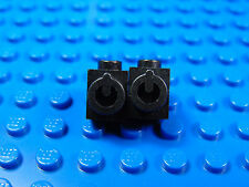 LEGO-X 2 Black Brick, Modified 1 x 1 with Stud on Side and Conductive Element on