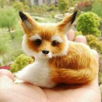 Realistic Stuffed Animal Soft Plush Kid Cute Toy Sitting Gifts Fox Decor Z1N2