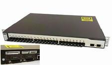 Cisco WS-C3750-24FS-S 24-Port 100Base-FX FIber Optic Stackable Managed Switch