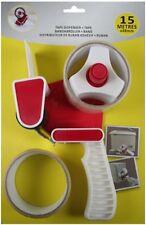Bandabroller Packbandabroller Handabroller inkl. 2x Klebeband transparent 15m