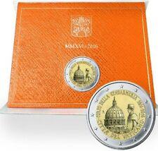 Pièce 2 euros commemorative Vatican 2016 bicentenaire Gendarmerie Vaticane