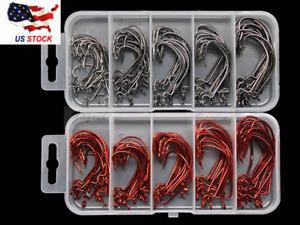 box Worm Hook Finesse HD 50pc /& 100pc Worm Hooks Size 2# 1# 1//0# 2//0# 3//0# size