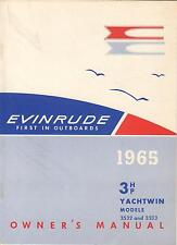 1965 EVINRUDE 3 HP YACHTWIN OUTBOARD OWNERS MANUAL P/N 205430  (538)
