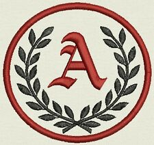 """Monogram Patch Circle 3.5"""" Tag, Label, - Just add your Initial - Iron or Sew On"""
