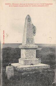 CPA 27 ECOUIS MONUMENT ELEVE PAR LES HABITANTS