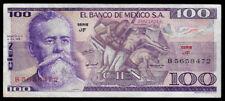 World Paper Money - Mexico 100 Pesos 1978 @ Vf