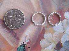 2 Silver 14mm 18g  Nose Rings Endless Hoop Earrings