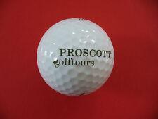 Pelota de golf con logo-proscott golftours-logotipo Ball como amuleto de regalo...