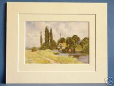IFFLEY MILL OXFORD VINTAGE DOUBLE MOUNTED HASLEHUST PRINT 1930'S 10 X 8 OVERALL