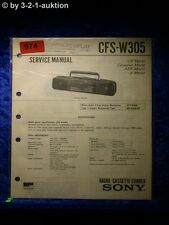 Sony Service Manual CFS W305 Cassette Recorder (#0974)