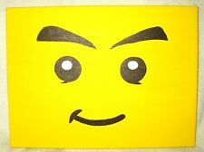 Canvas Painting Lego Yellow Face Art 16x12 inch Acrylic
