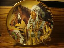 """Vintage Franklin Mint """"Pride of the Sioux"""" Indian Heritage Collectible Plate"""